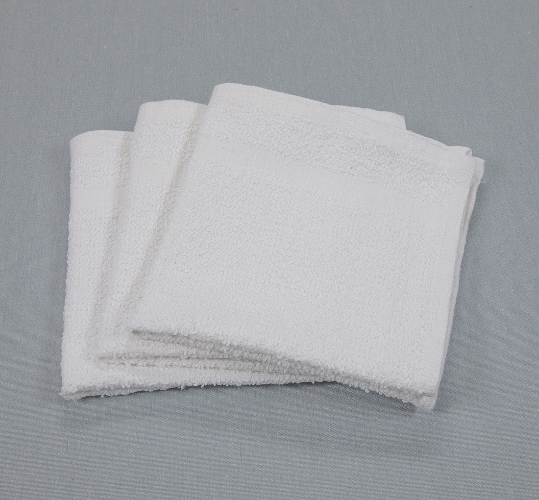 12x12 .75lb White Washcloth