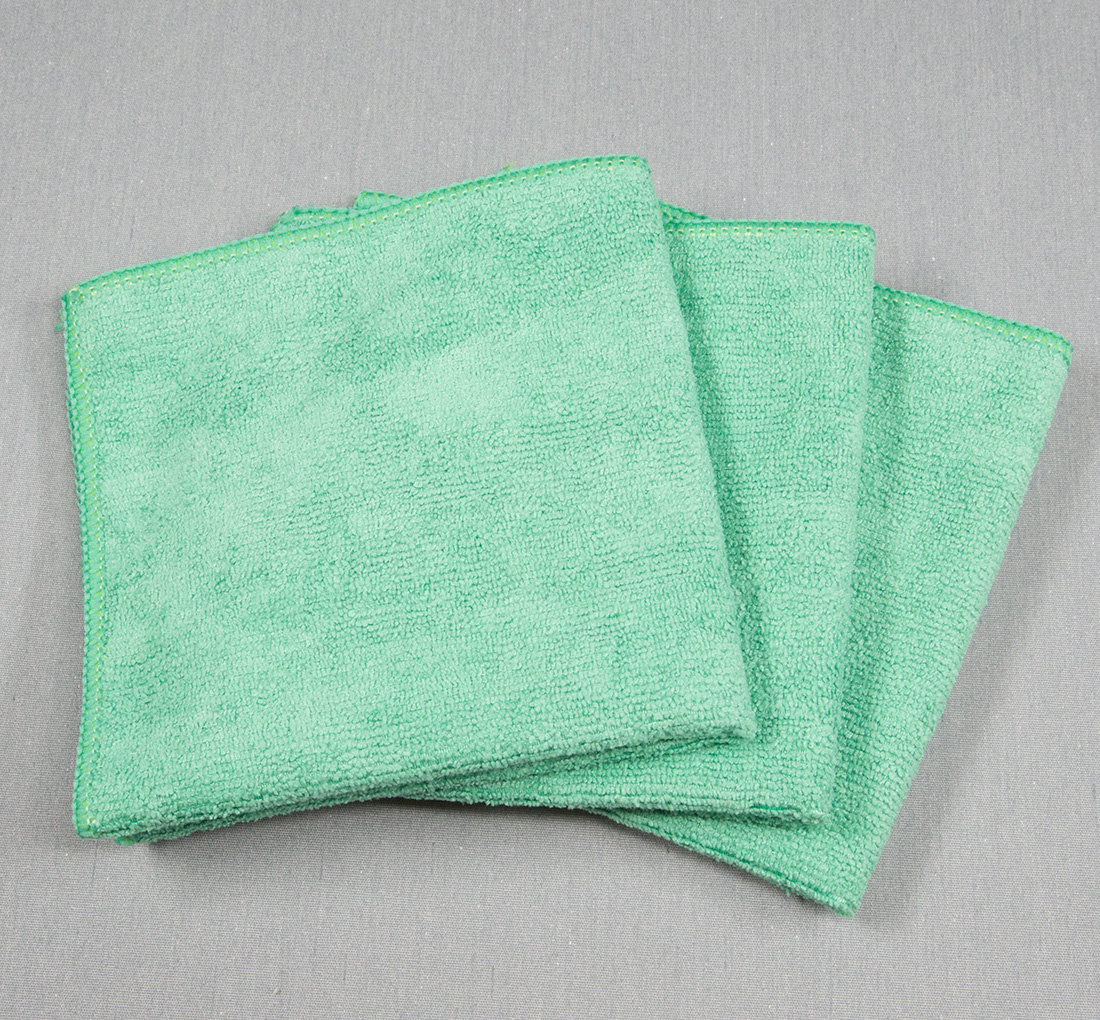 12x12 Microfiber Cloth 30g Green Towels
