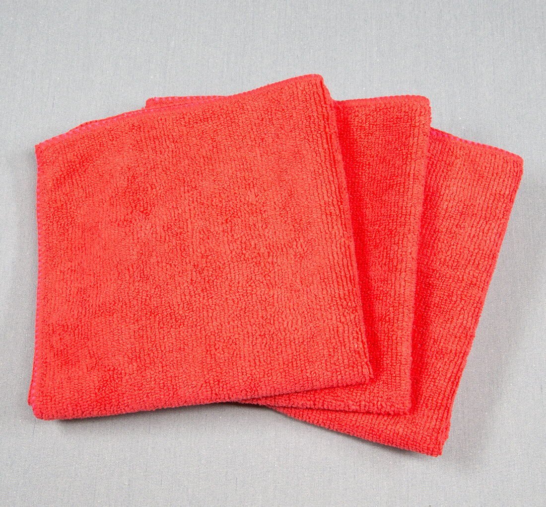 12x12 Microfiber Cloth 30g Red Towels