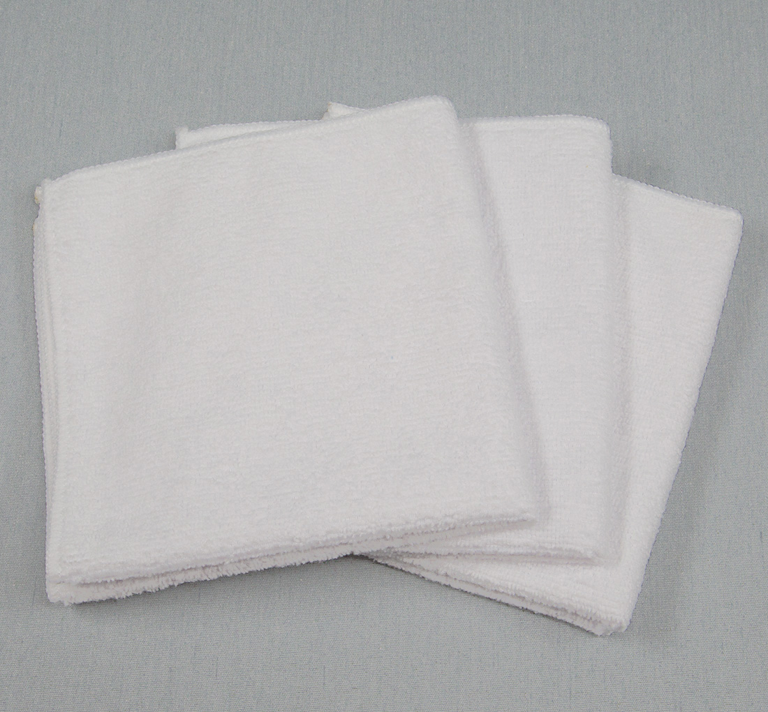 12x12 Microfiber Cloth 30g White Towels
