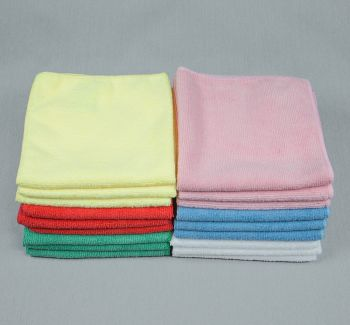 12x12 Microfiber Cloth 30g Color Towels