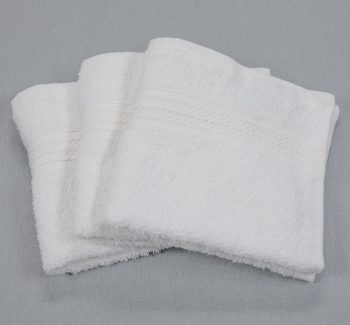 13x13 1.50lb White Washcloth