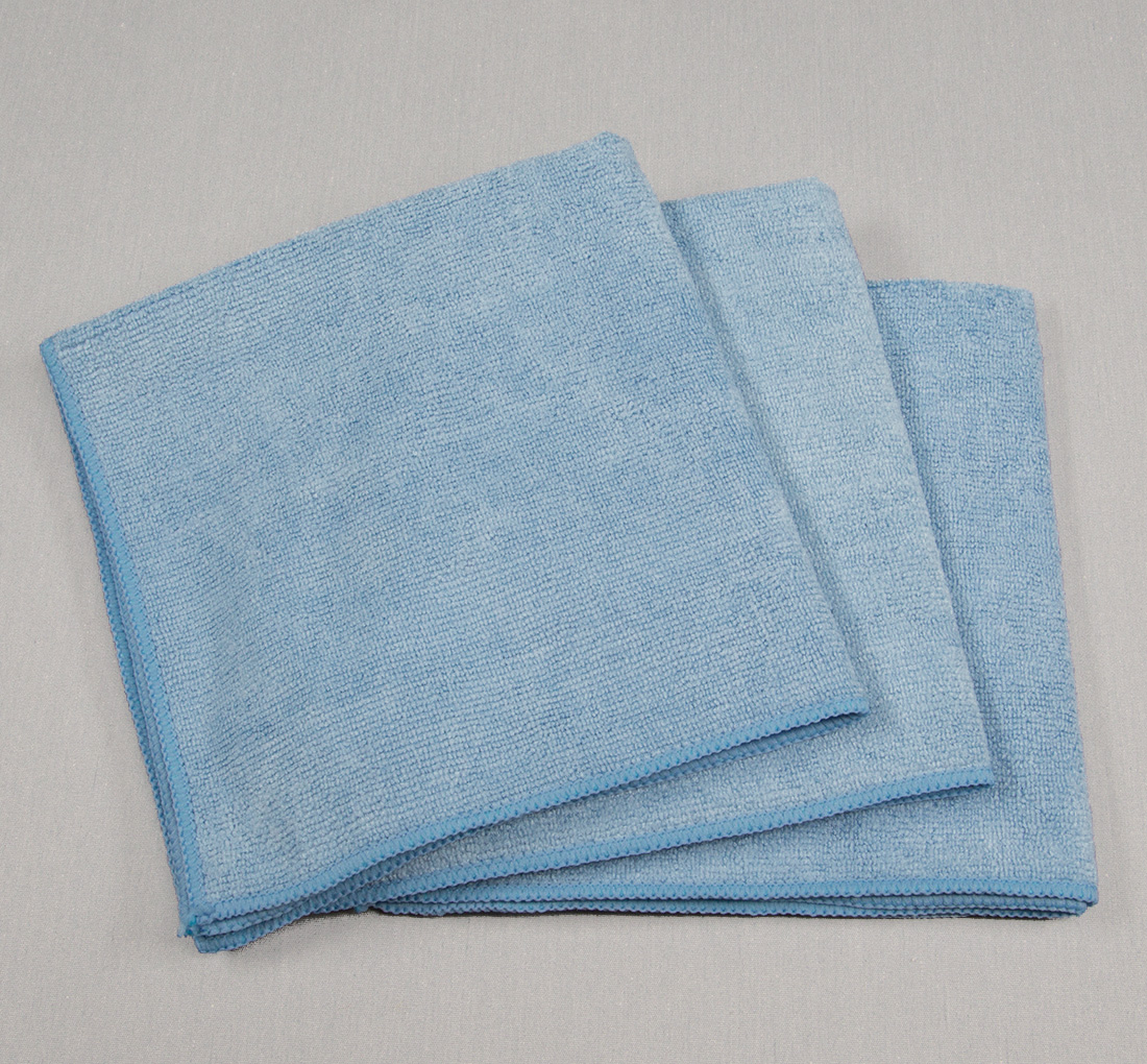 16x16 Microfiber Cloth 35g Porcelain Blue Towels