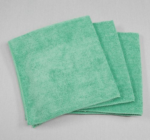 16x16 Microfiber Cloth 35g Green Towels