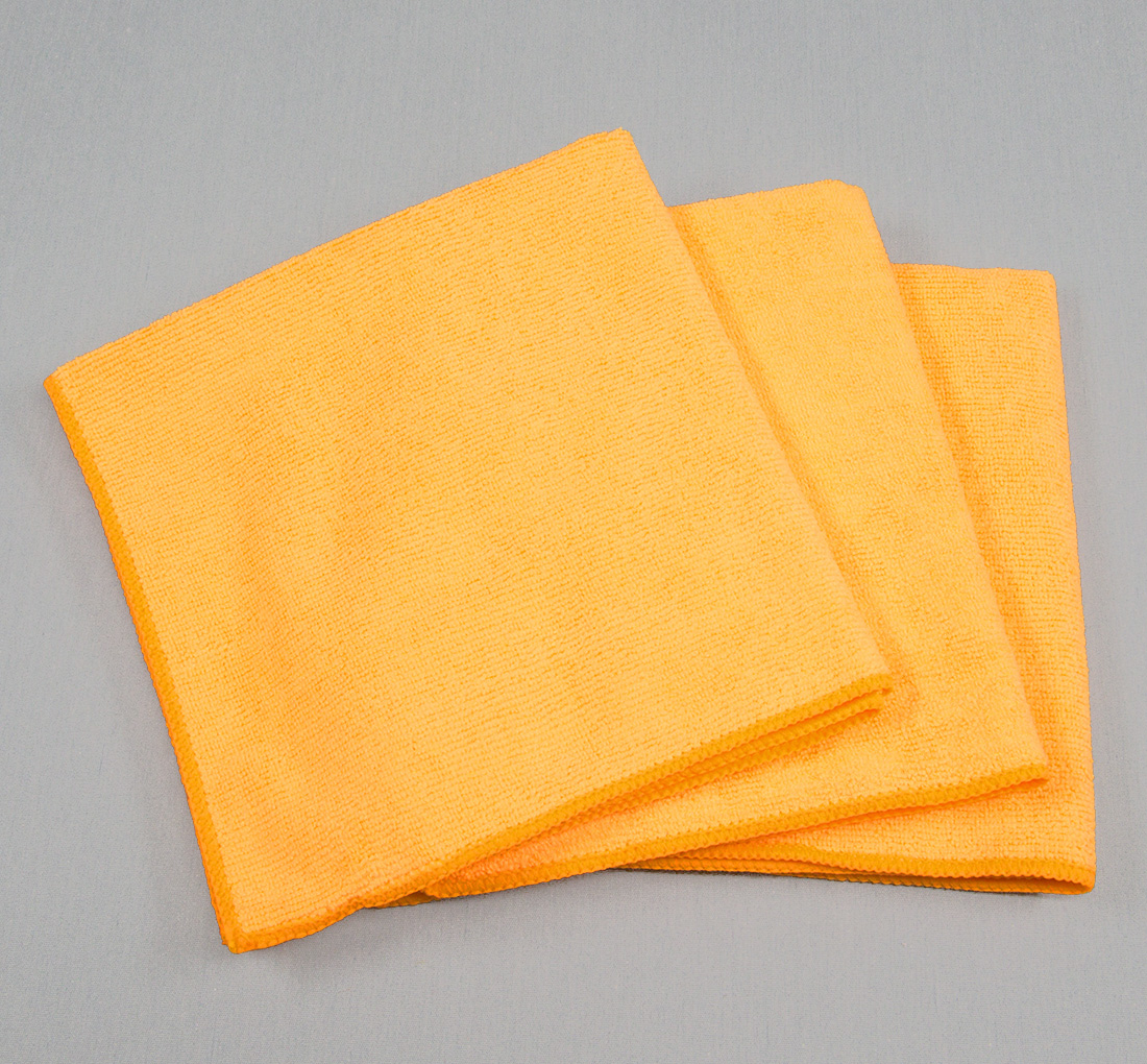 16x16 Microfiber Cloth 35g Orange Towels