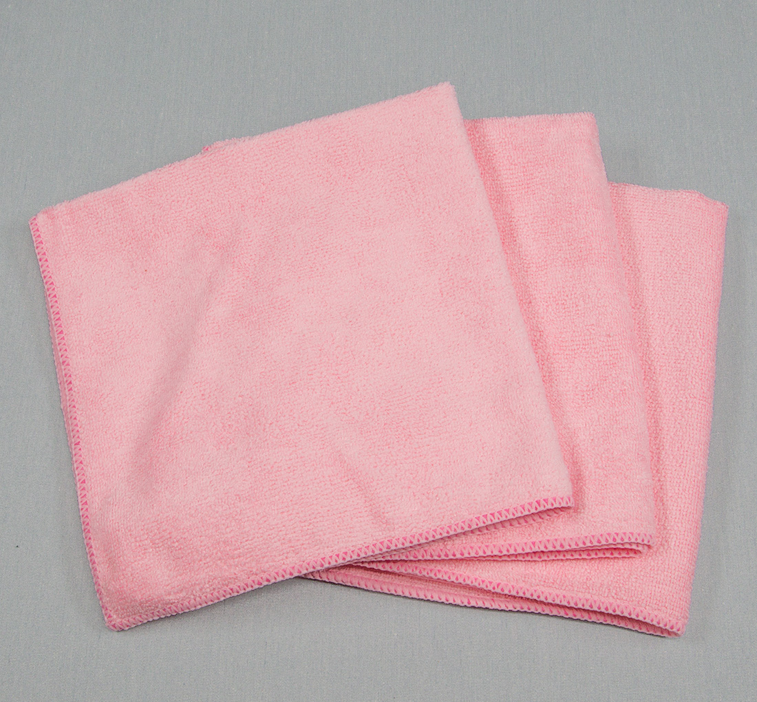 16x16 Microfiber Cloth 35g Pink Towels