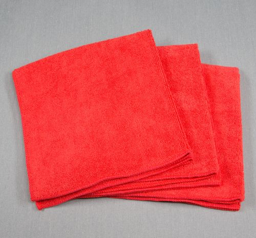 16x16 Microfiber Cloth 35g Red Towels