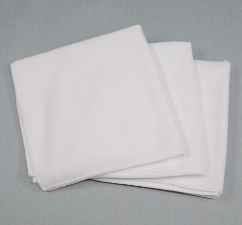 16x16 Microfiber Cloth 35g White Towels