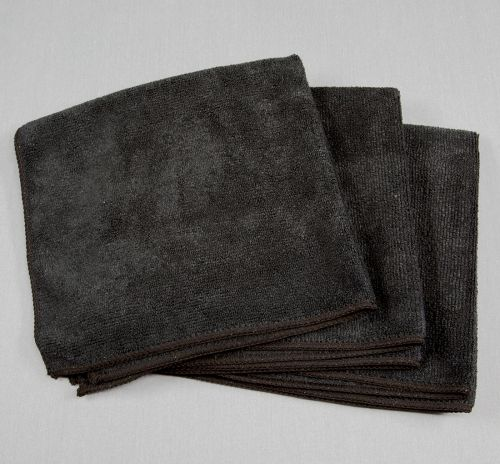 16x16 Microfiber Cloth 45g Porcelain Black