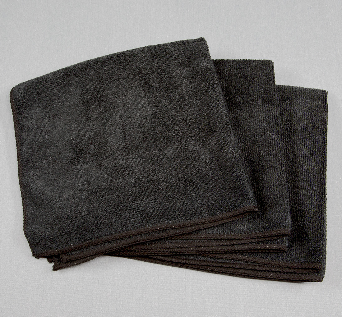 16x16 Microfiber Cloth 49g Black