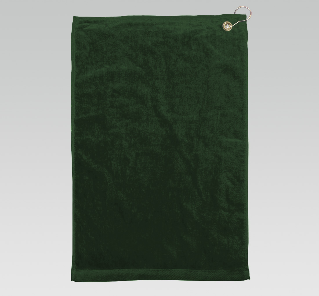 16x26 Hunter Green Golf Towels Corner Grommet Hook