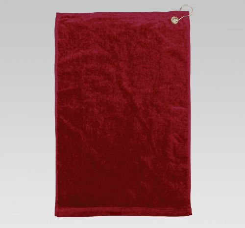 16x26 Maroon Golf Towels Corner Grommet Hook