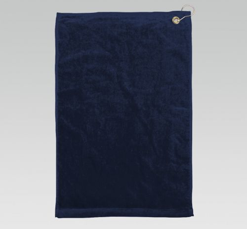 16x26 Navy Blue Golf Towels Corner Grommet Hook