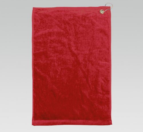 16x26 Red Golf Towels Corner Grommet Hook