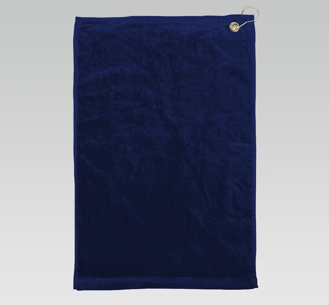 16x26 Royal Blue Golf Towels Corner Grommet Hook