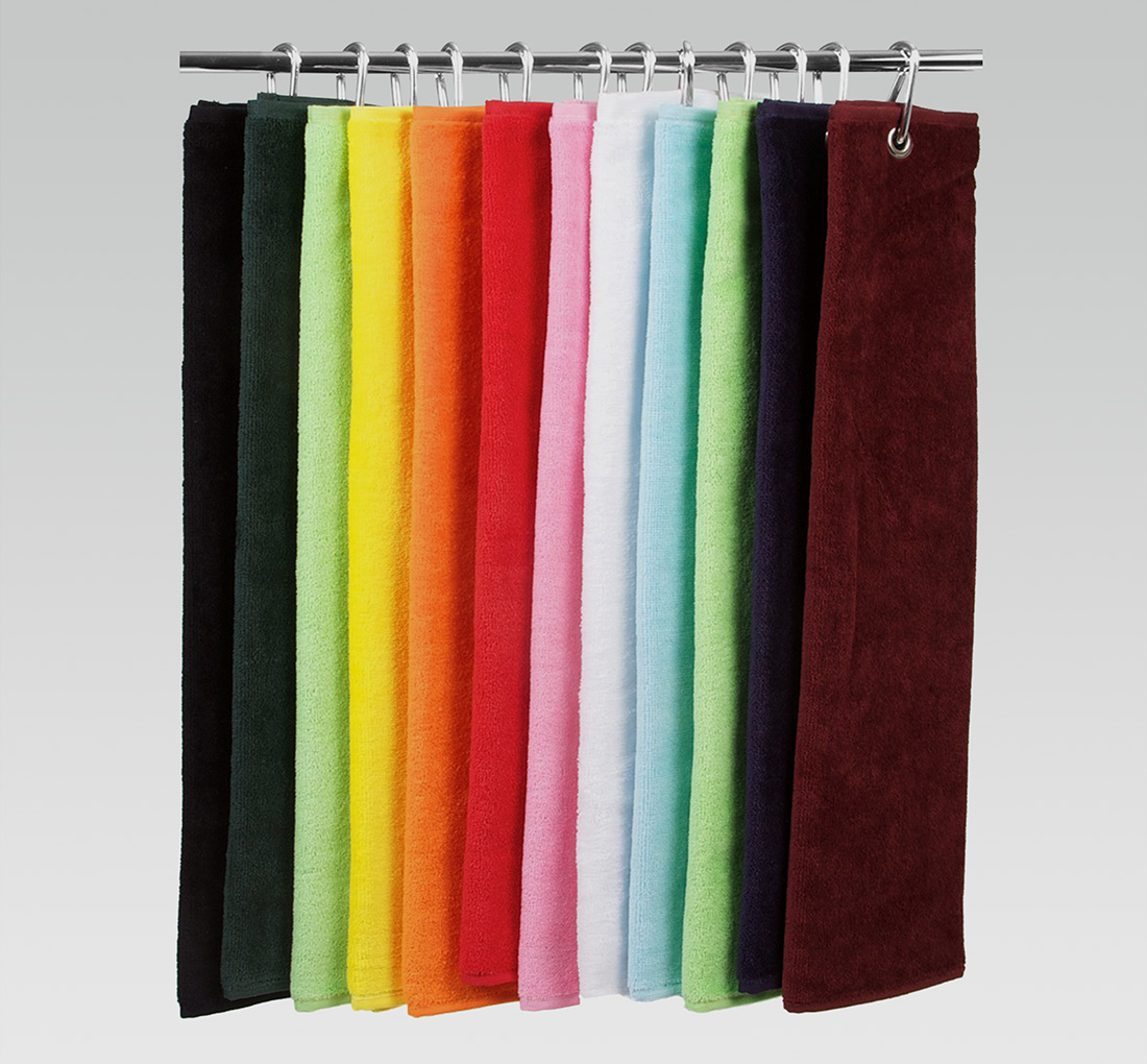 16x26 Tri Fold Terry Velour Color Golf Towels