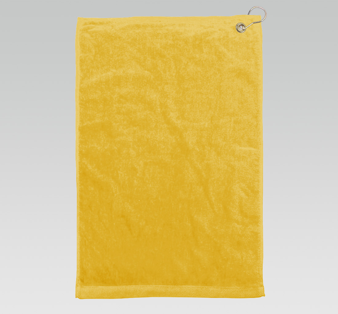 16x26 Yellow Towels Corner Grommet Hook