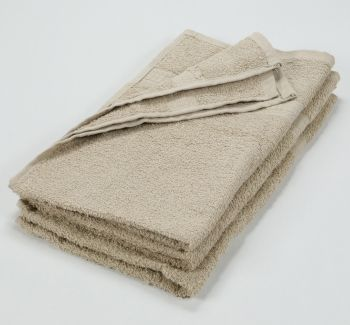 16x27 Color Hand Towel Tan