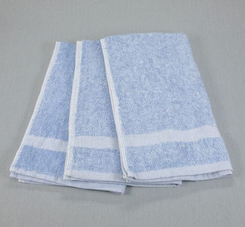 16x27 Fibertone Porcelain Blue Bleach Safe Hand Towels