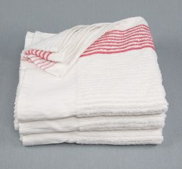 22x44 Red Ribbed Striped Gym Towels