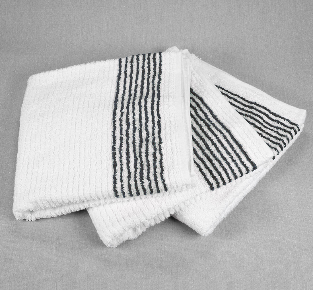 22x44 8 Black Stripe Towels