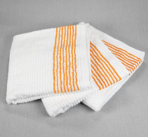 Super Gym Towels with Yellow Stripes, Caddy Towels with Stipes
