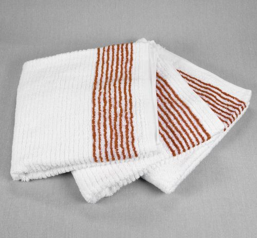 Super Gym Towel, Caddy Towels, White Towel with Stripes. Golf Towels