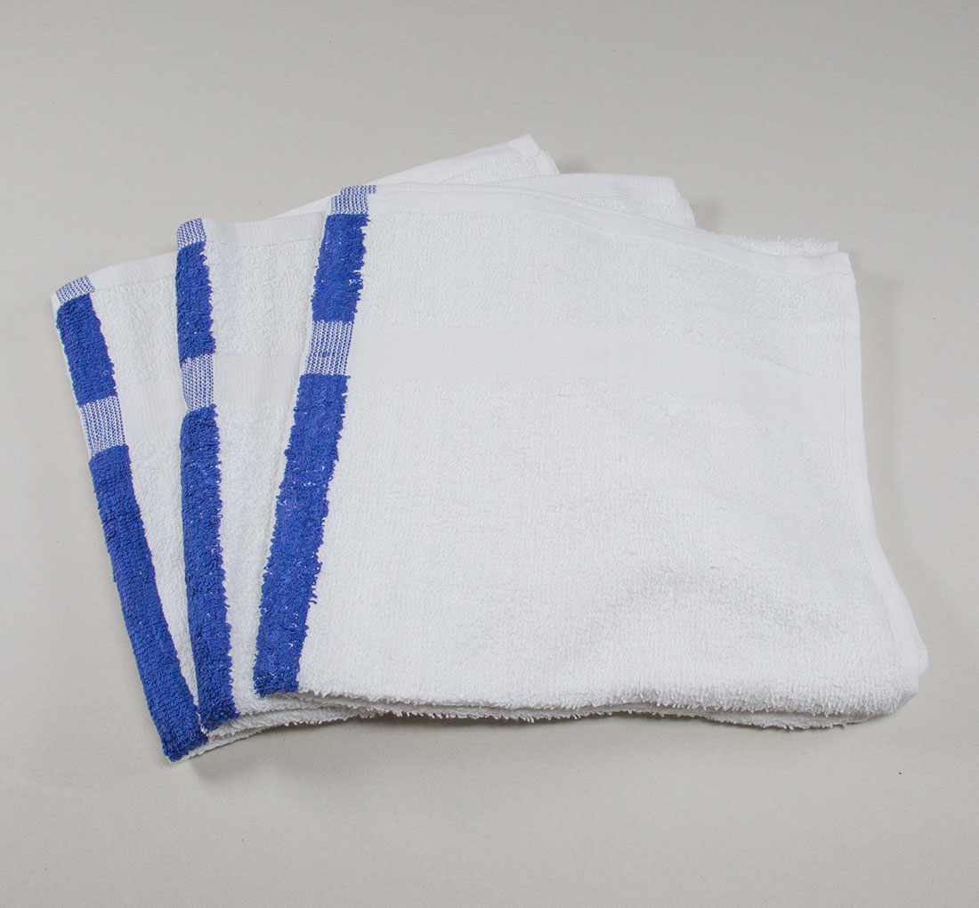 22 x 44 Blue Stripe Bath Pool Gym Towel