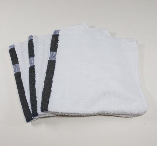 Black Center Stripe Towel 22x44