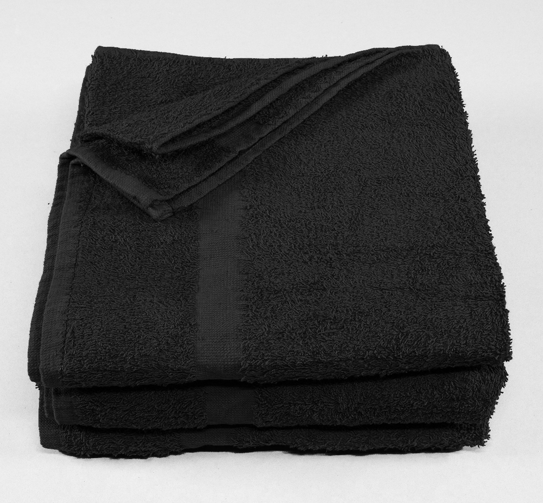 24x48 Towels Navy Black