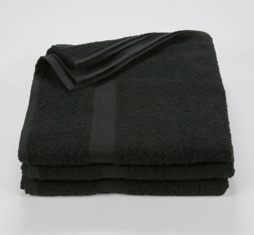 27x52 Color Towel Black