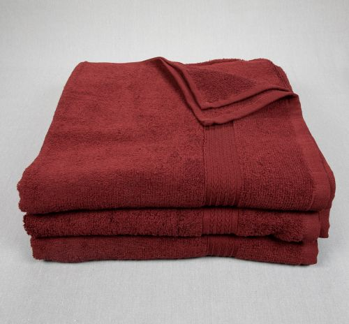 27x54 Bath Towels Maroon