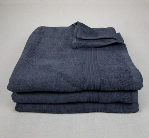 27x54 Bath Towels Navy Blue