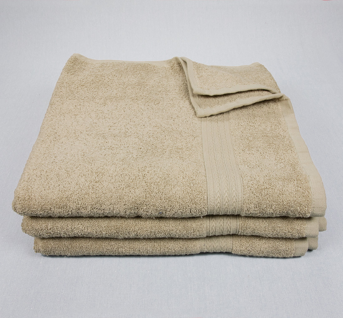 27x54 Bath Towels Tan
