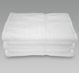 27x54 White Bath Towel for Hotels