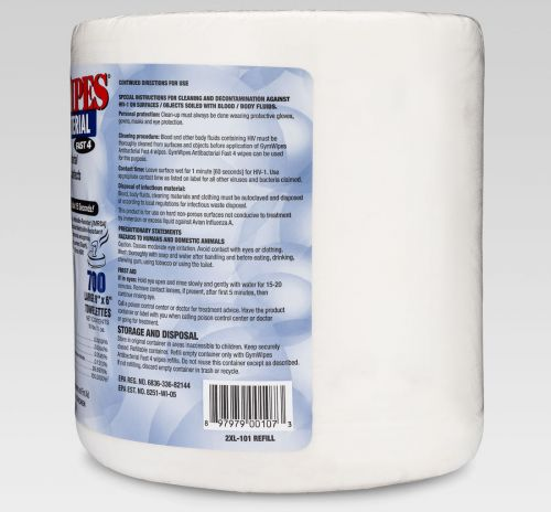 2xl 101 Refill Gym Wipes Right