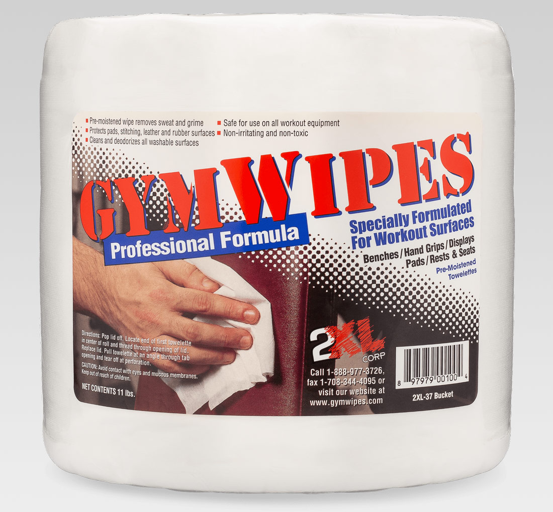 2xl 38 Gym Wipes Professional Formula Single