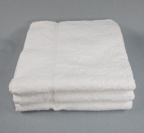 30x60 Premium White Bath Sheet Towel 18lb