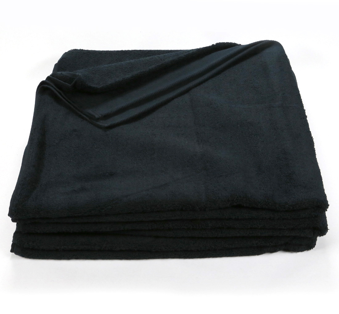Black Bath Sheet Towel 32x66