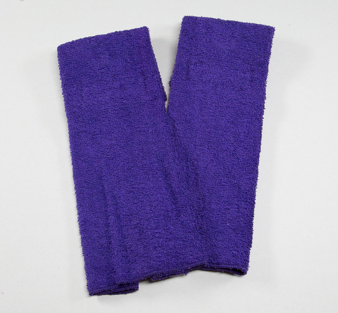 Purple Football Quarterback Towel 4x12