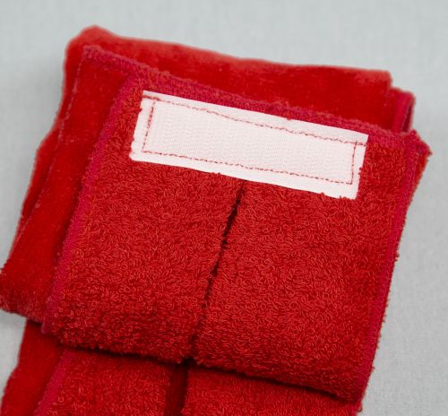 Red Football Quarterback Towel Tag 4x12