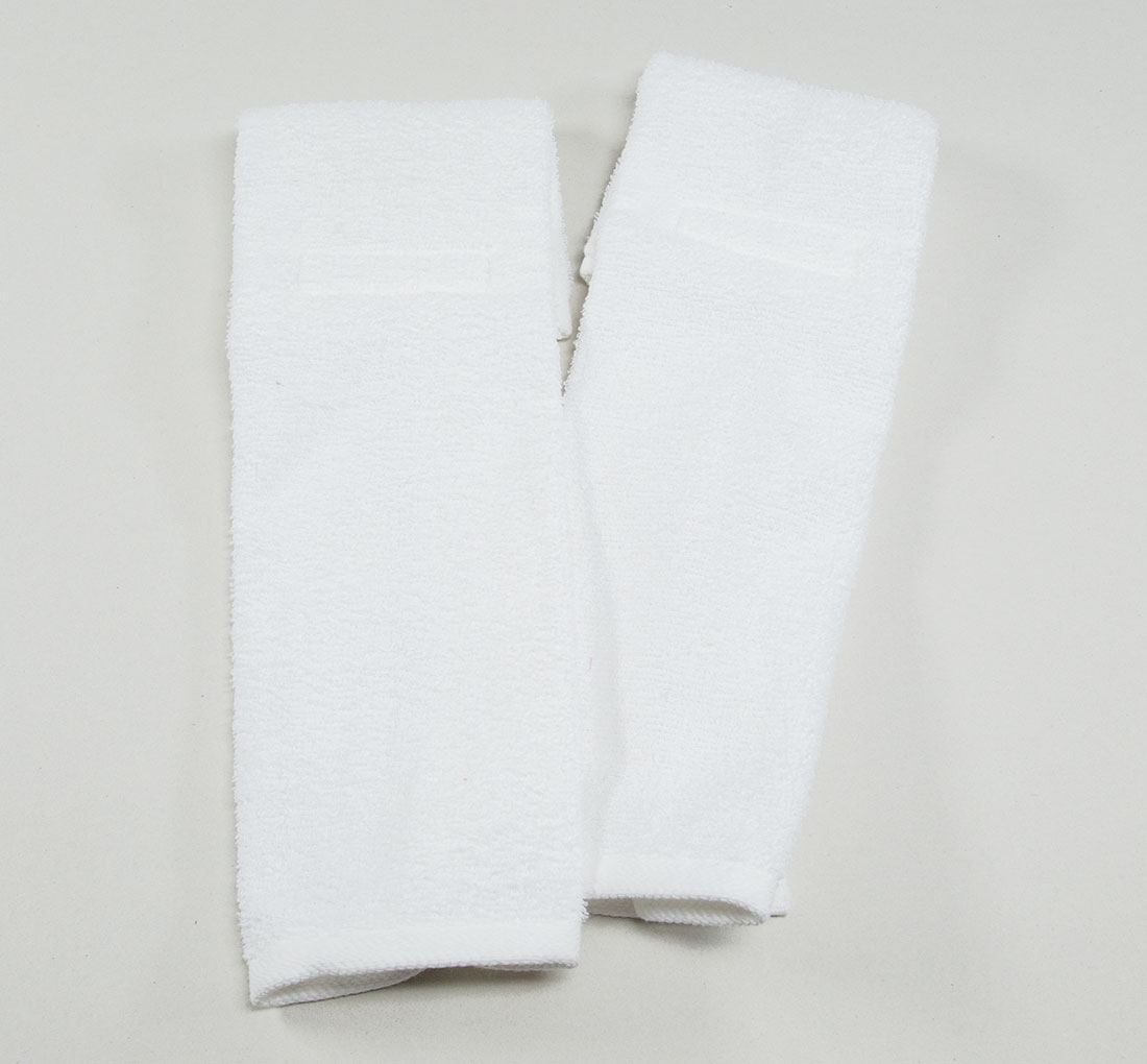 White Football Quarterback Towel 4x12