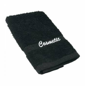 Black Cosmetic Washcloths 12x12