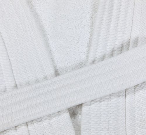 R110 48x60 White Bathrobe Belt