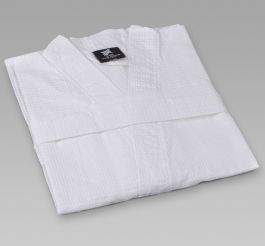 R120ki 48x60 White Honeycombed Waffle Bathrobe